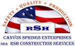 RSH Construction Logo